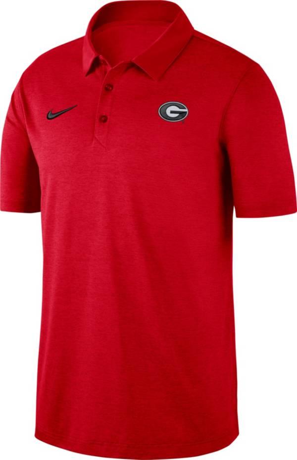 Nike Men's Georgia Bulldogs Red Dri-FIT Breathe Polo product image