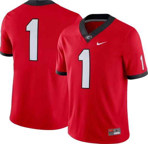 7fa4883a92a0 Nike Men s Georgia Bulldogs  1 Red Game Football Jersey. noImageFound.  Previous