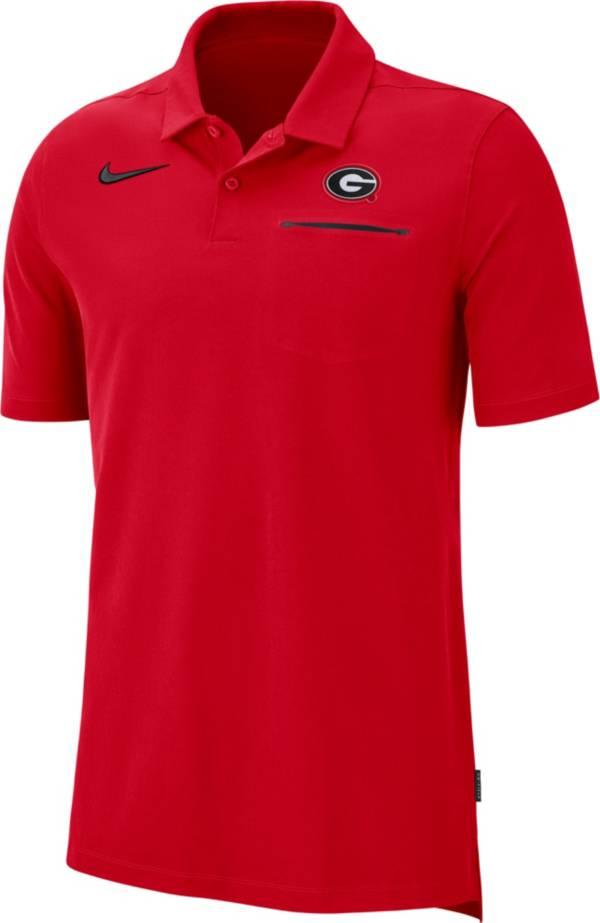 Nike Men's Georgia Bulldogs Red Dri-FIT Elite Football Sideline Polo product image