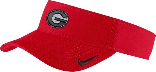 28e4f8ee62e5a Nike Men s Georgia Bulldogs Red Aerobill Football Sideline Visor ...