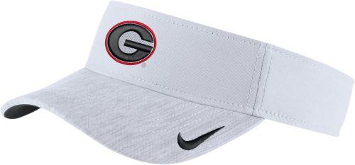 Nike Men s Georgia Bulldogs White Aerobill Football Sideline Visor ... 957c64ad023