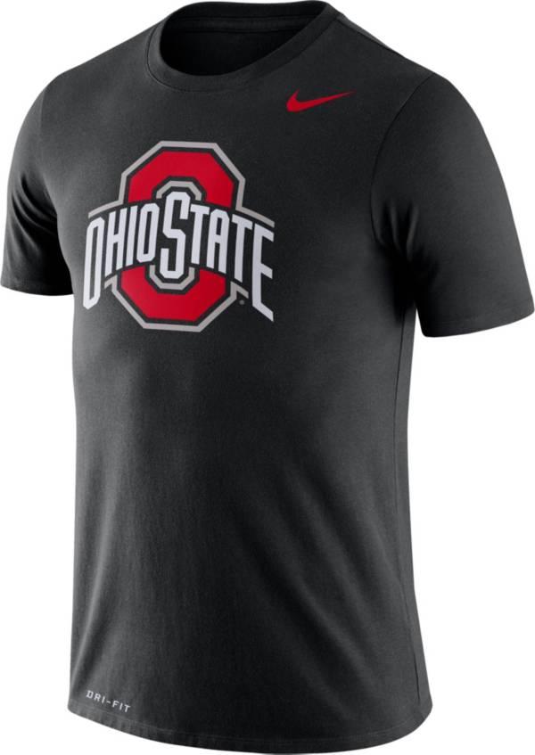 Nike Men's Ohio State Buckeyes Logo Dry Legend Black T-Shirt product image