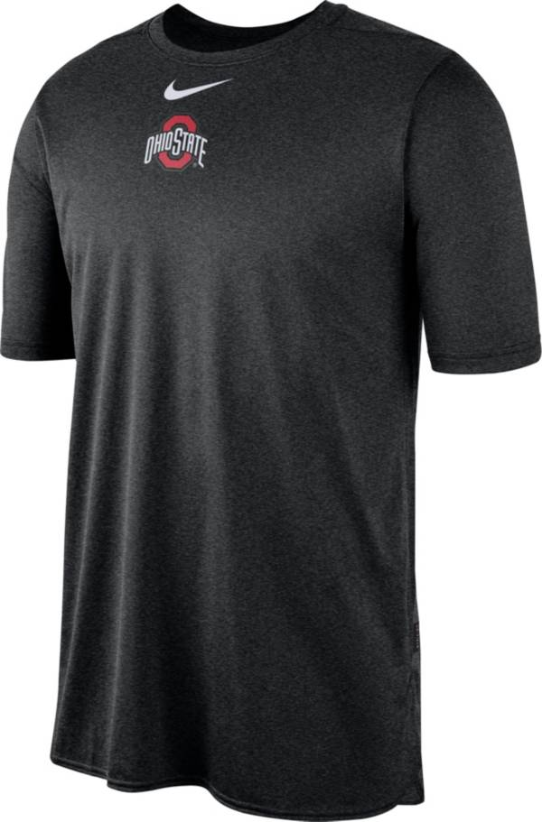 Nike Men's Ohio State Buckeyes Player Dri-FIT TechKnit Black T-Shirt product image