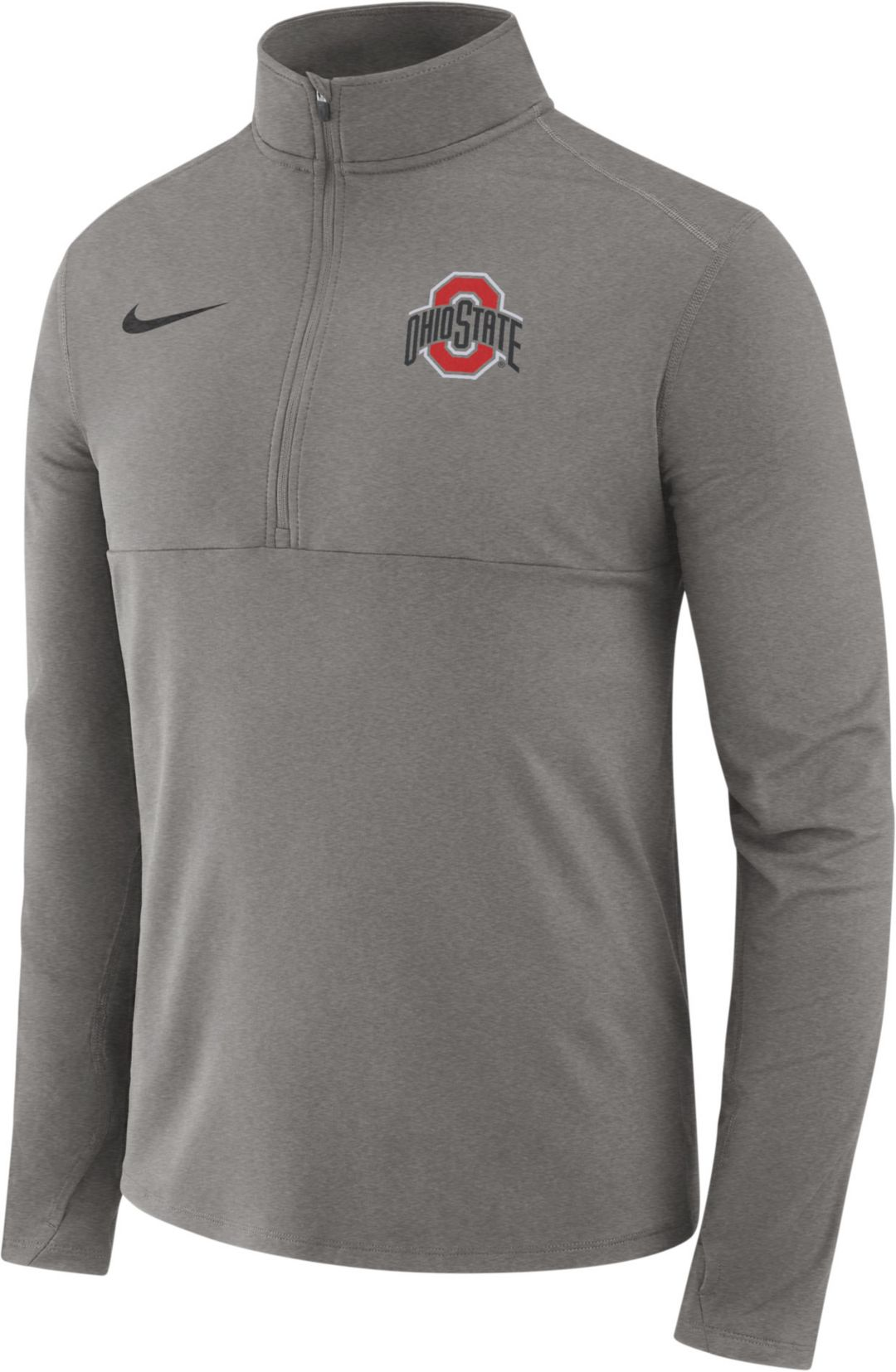 purchase cheap f0aa3 c5e20 Nike Men s Ohio State Buckeyes Gray Core Half-Zip Shirt   DICK S ...