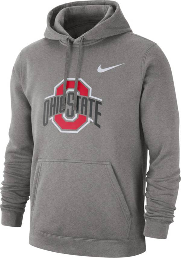Nike Men's Ohio State Buckeyes Gray Club Fleece Pullover Hoodie product image