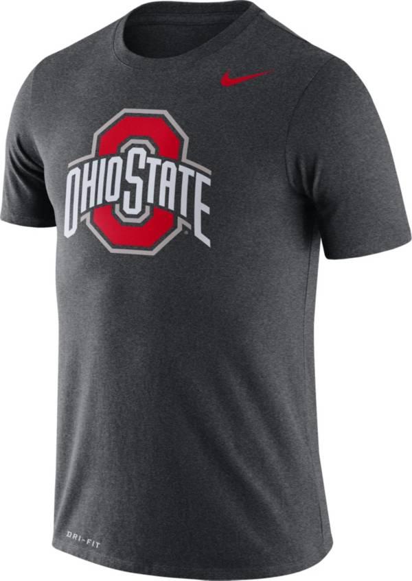 Nike Men's Ohio State Buckeyes Gray Legend Logo T-Shirt product image
