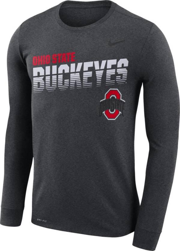 Nike Men's Ohio State Buckeyes Gray Legend Football Sideline Long Sleeve T-Shirt product image