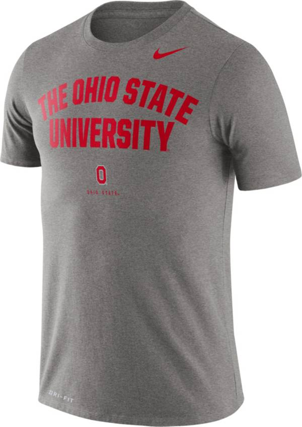 Nike Men's Ohio State Buckeyes Grey Dri-FIT Phrase T-Shirt product image