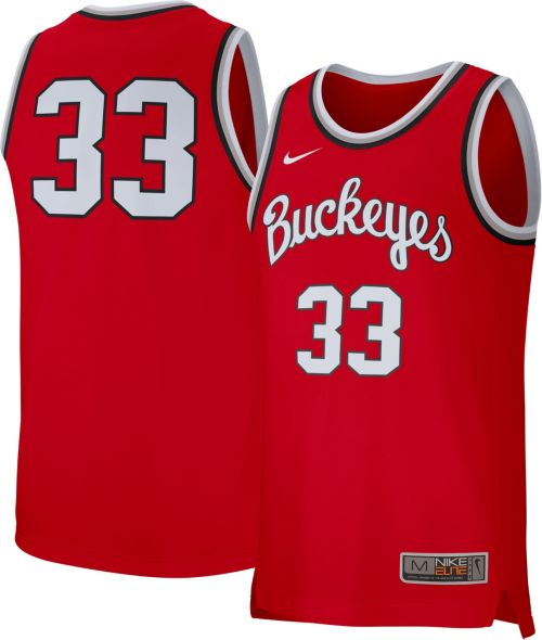 dcfd1ed22d9 Nike Men s Ohio State Buckeyes Scarlet  33 Replica Basketball Jersey.  noImageFound. Previous. 1