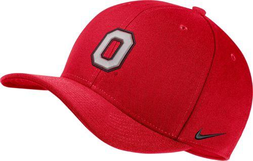 ccb69d964774 Nike Men s Ohio State Buckeyes Scarlet Classic99 Swoosh Flex Hat ...