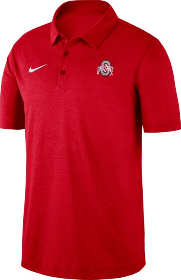 Nike Men's Ohio State Buckeyes Scarlet Dri-FIT Breathe Polo product image