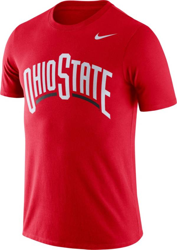 Nike Men's Ohio State Buckeyes Scarlet Dri-FIT Cotton Word T-Shirt product image