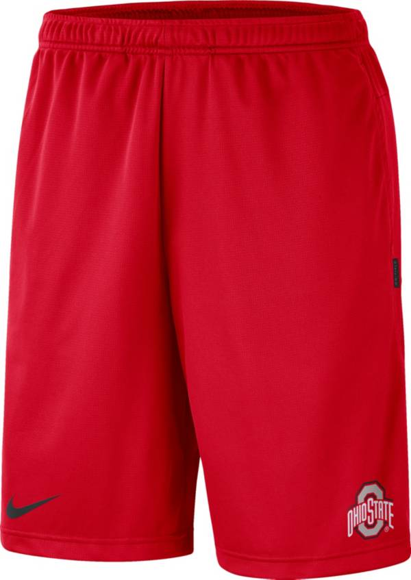 Nike Men's Ohio State Buckeyes Scarlet Dri-FIT Coach Shorts product image