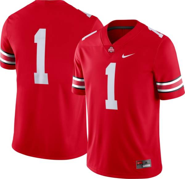 Nike Men's Ohio State Buckeyes #1 Scarlet Dri-FIT Game Football Jersey product image