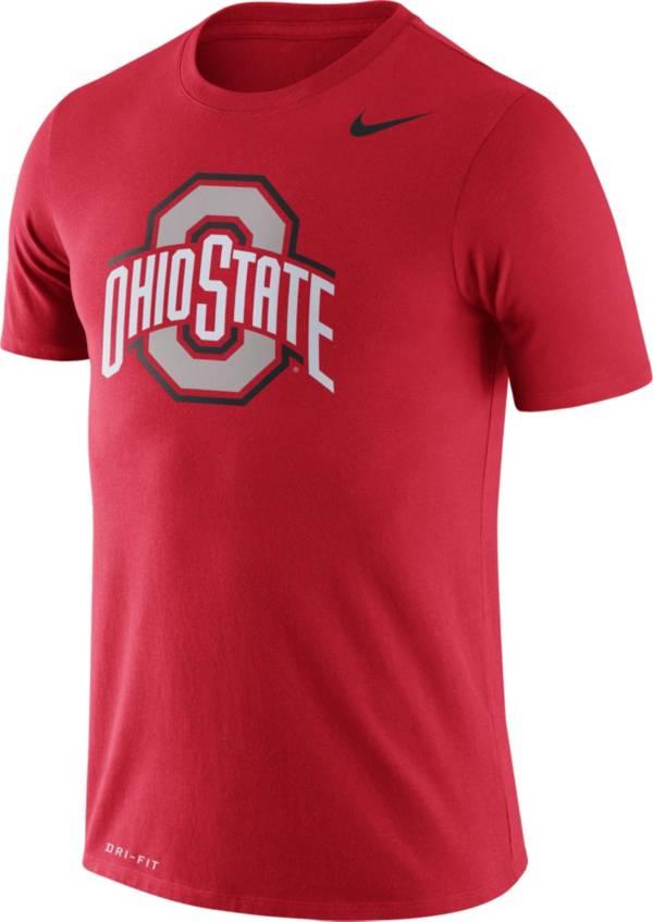 Nike Men's Ohio State Buckeyes Scarlet Logo Dry Legend T-Shirt product image