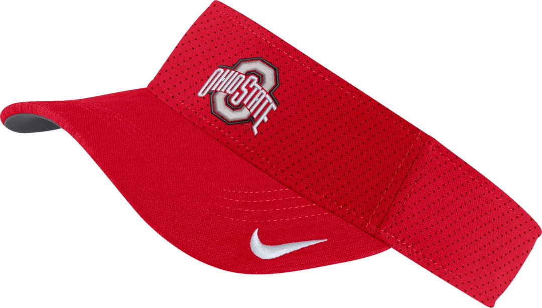 on sale 4e440 472d6 Nike Men s Ohio State Buckeyes Scarlet AeroBill Football Sideline Visor.  noImageFound. Previous