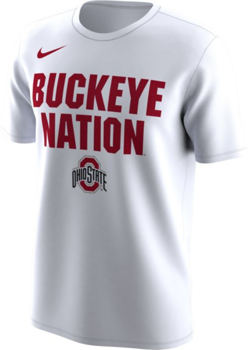 30161426bef Nike Men s Ohio State Buckeyes  Buckeye Nation  Bench Legend White T ...
