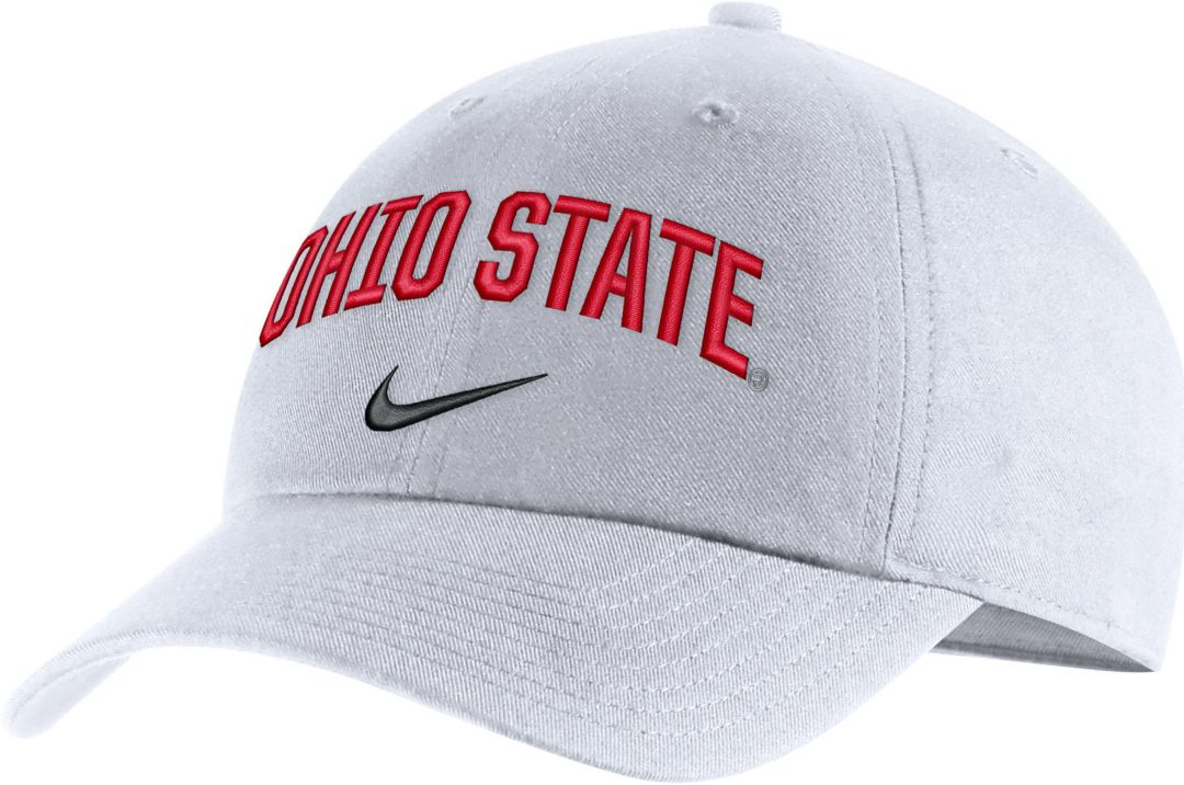 brand new de550 fdcd8 Nike Men s Ohio State Buckeyes Heritage86 Arch Wordmark White Hat