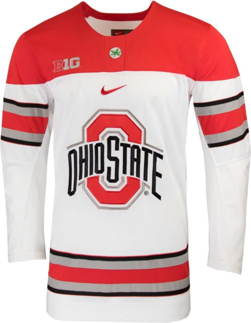 c602c14a6dc Nike Men s Ohio State Buckeyes Replica Hockey White Jersey