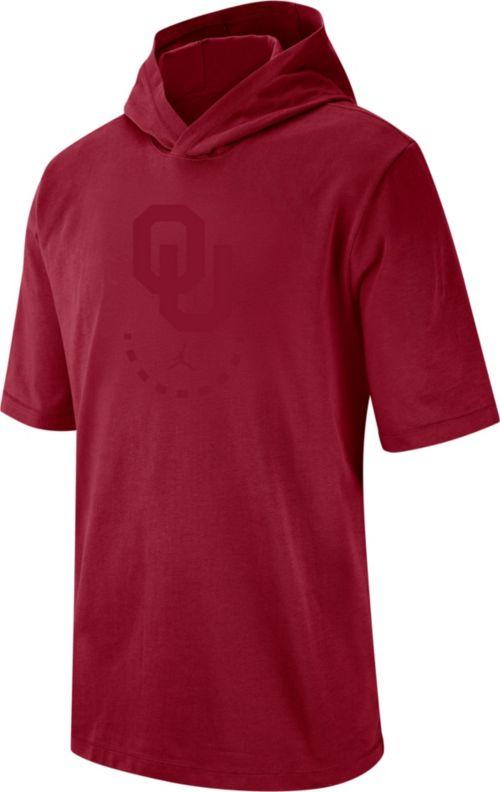 9f6bea2c6e24 Jordan Men s Oklahoma Sooners Crimson NRG Basketball Short Sleeve Pullover  Hooded Shirt. noImageFound. Previous