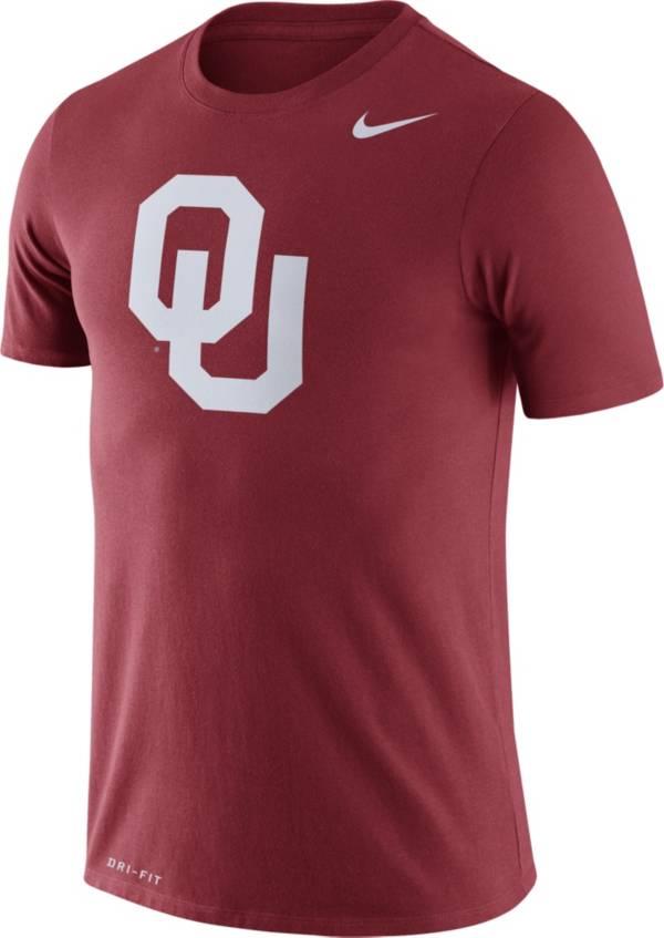 Nike Men's Oklahoma Sooners Crimson Logo Dry Legend T-Shirt product image