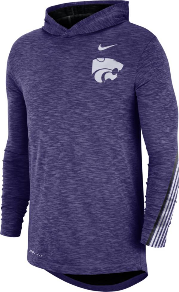 Nike Men's Kansas State Wildcats Purple Cotton Long Sleeve Hoodie T-Shirt product image