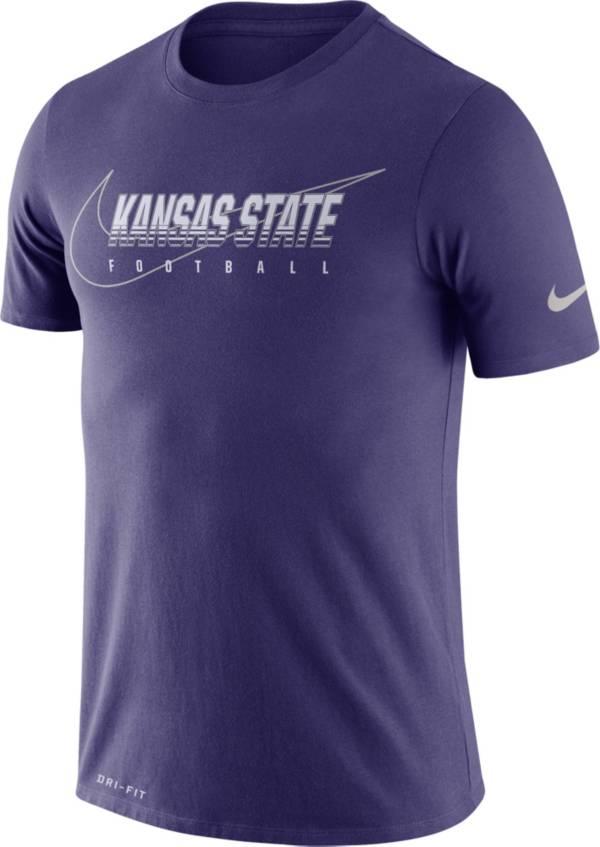 Nike Men's Kansas State Wildcats Purple Football Dri-FIT Cotton Facility T-Shirt product image