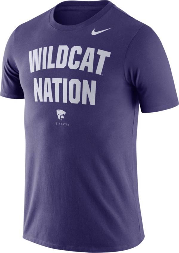 Nike Men's Kansas State Wildcats Purple Dri-FIT Phrase T-Shirt product image