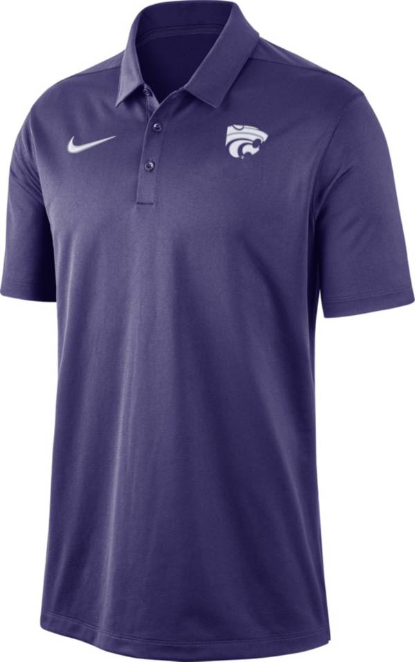 Nike Men's Kansas State Wildcats Purple Dri-FIT Franchise Polo product image