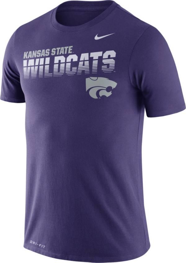 Nike Men's Kansas State Wildcats Purple Legend Football Sideline T-Shirt product image