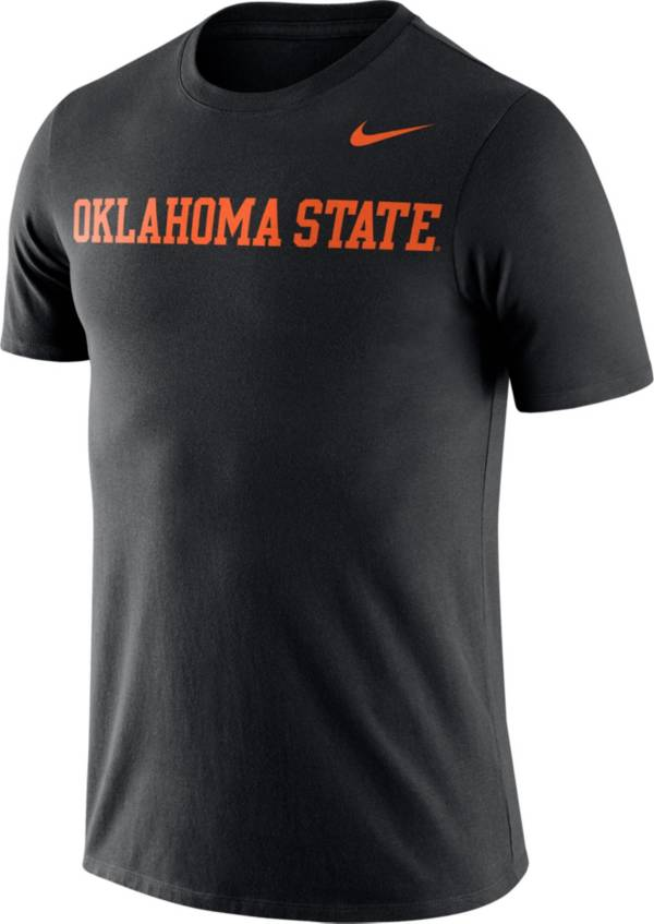 Nike Men's Oklahoma State Cowboys Dri-FIT Cotton Word Black T-Shirt product image