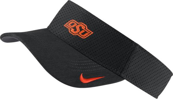 Nike Men's Oklahoma State Cowboys AeroBill Football Sideline Black Visor product image