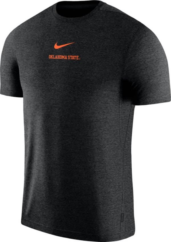 Nike Men's Oklahoma State Cowboys Dri-FIT Coach UV Football Black T-Shirt product image