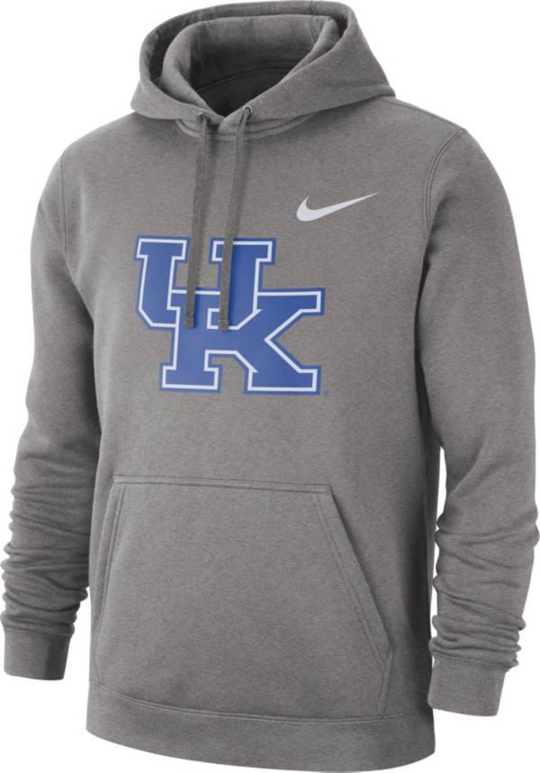 Nike Men's Kentucky Wildcats Grey Club Fleece Pullover Hoodie product image