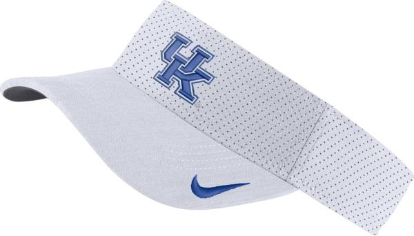 Nike Men's Kentucky Wildcats AeroBill Football Sideline White Visor product image