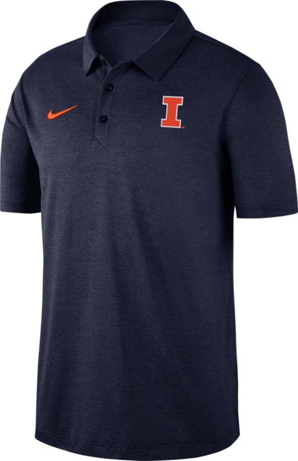 Nike Men's Illinois Fighting Illini Blue Dri-FIT Breathe Polo product image