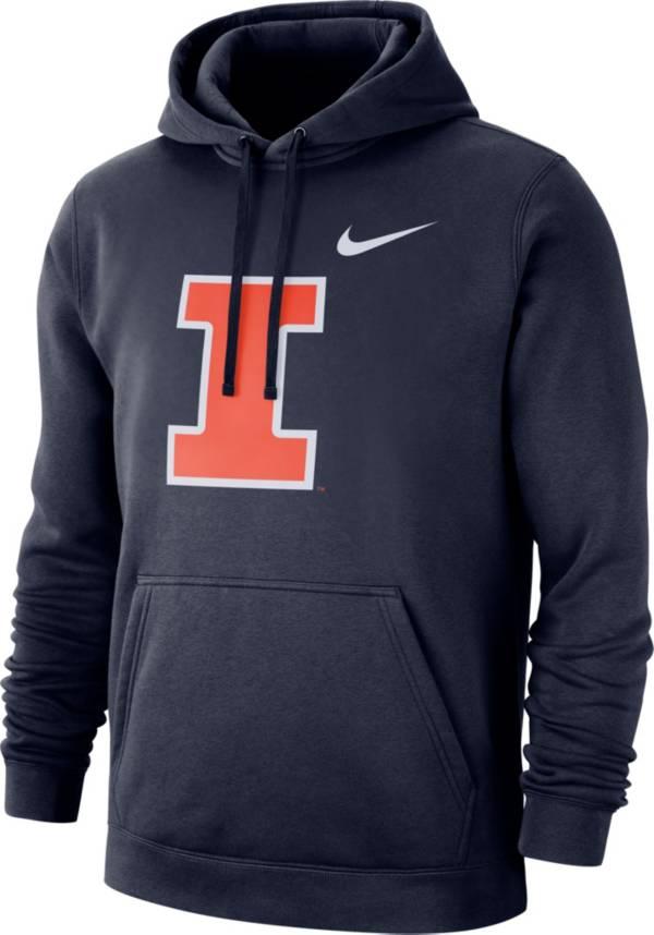 Nike Men's Illinois Fighting Illini Blue Club Fleece Pullover Hoodie product image