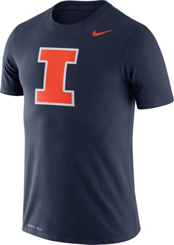 Nike Men's Illinois Fighting Illini Blue Logo Dry Legend T-Shirt product image