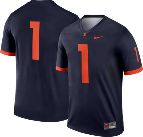 Nike Men's Illinois Fighting Illini #1 Blue Dri-FIT Legend Football Jersey product image