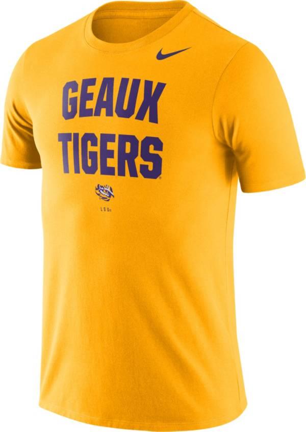 Nike Men's LSU Tigers Gold Dri-FIT Phrase T-Shirt product image