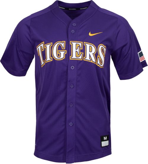 Nike Men s LSU Tigers Purple Dri-FIT Replica Baseball Jersey. noImageFound.  Previous e2bb4e6a5
