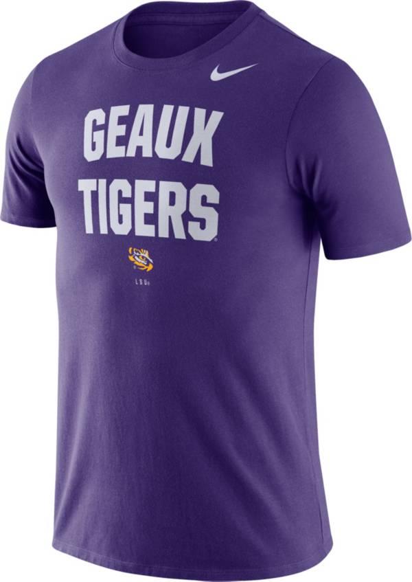 Nike Men's LSU Tigers Purple Dri-FIT Phrase T-Shirt product image