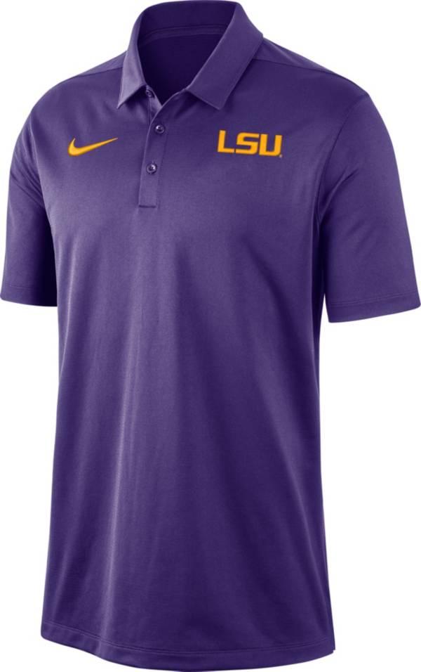 Nike Men's LSU Tigers Purple Dri-FIT Franchise Polo product image