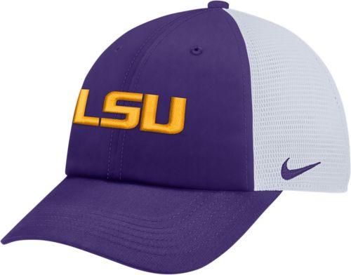 5072ecc1ed2 Nike Men s LSU Tigers Purple Heritage86 Adjustable Trucker Hat.  noImageFound. Previous