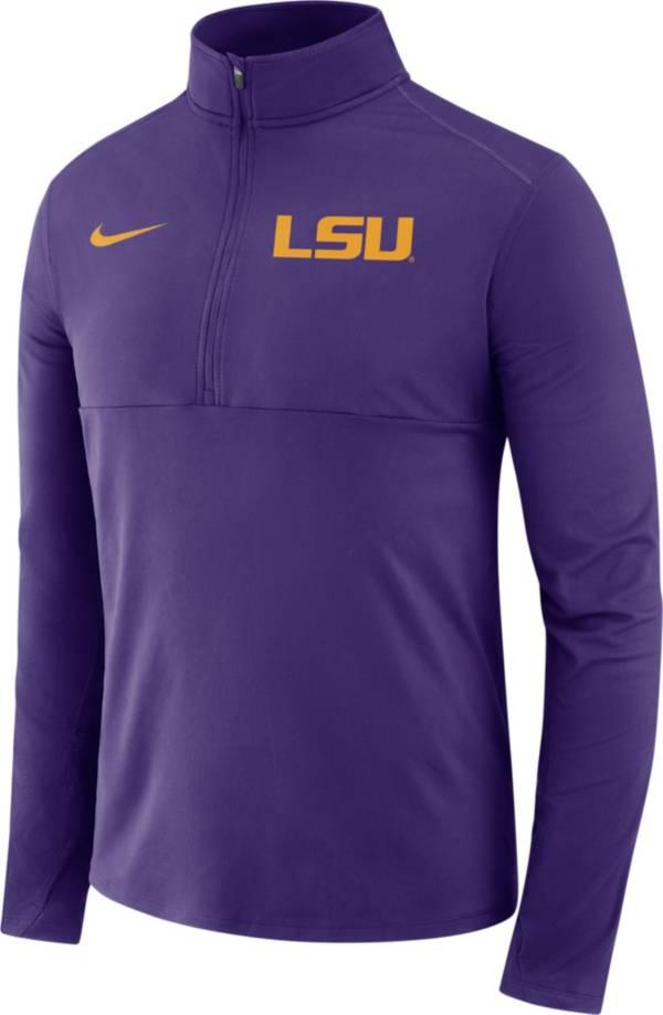 Nike Men's LSU Tigers Purple Long Sleeve Core Half-Zip Pullover Shirt product image