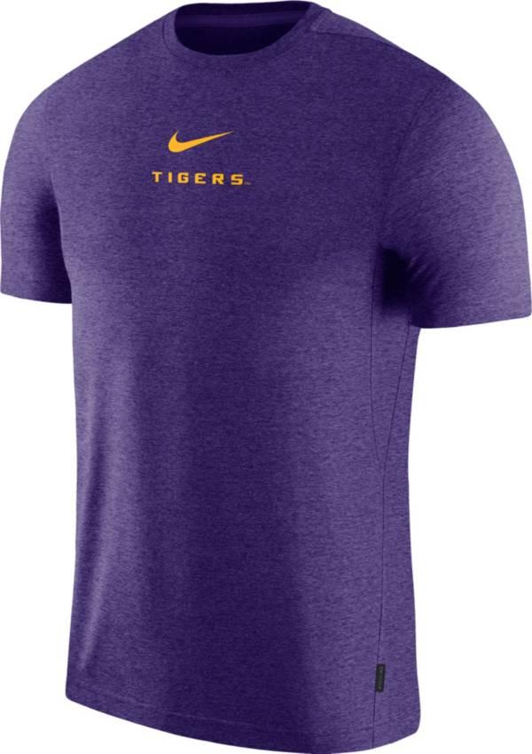 Nike Men's LSU Tigers Purple Dri-FIT Coach UV Football T-Shirt product image