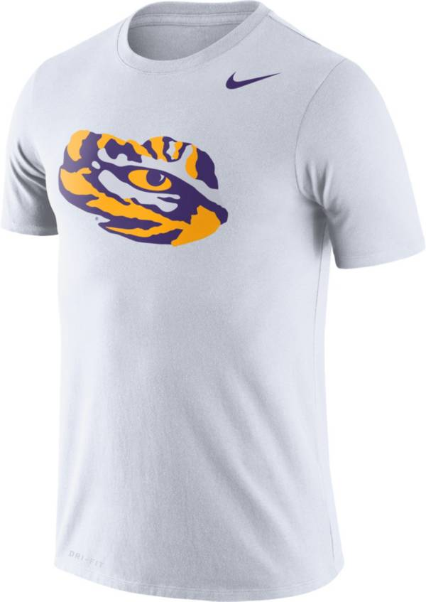 Nike Men's LSU Tigers Logo Dry Legend White T-Shirt product image