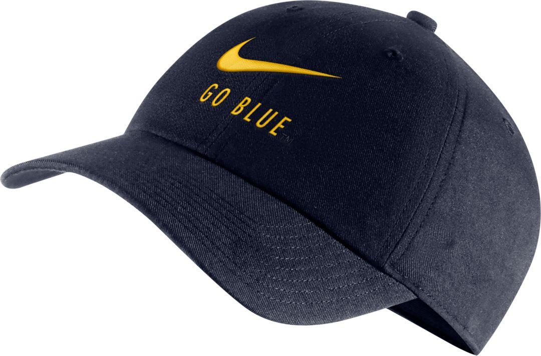 1f9bf4b2 Nike Men's Michigan Wolverines Blue Heritage86 Adjustable Hat