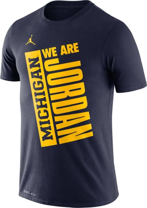 Jordan Men's Michigan Wolverines Blue Dri-FIT Performance Basketball T-Shirt product image
