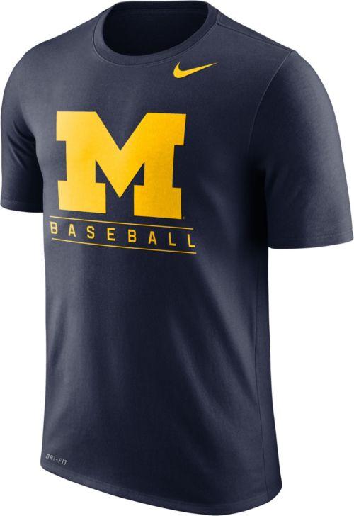 1b9f641ac41ddb Nike Men s Michigan Wolverines Blue Dri-FIT Legend Baseball T-Shirt.  noImageFound. Previous